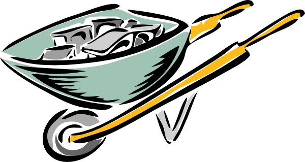 600x319 Wheel Barrow Clip Art