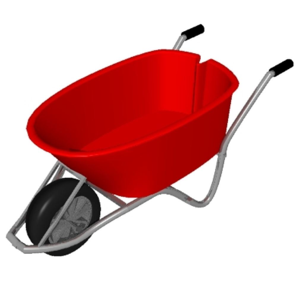 1024x1024 Wheel Barrow Clipart