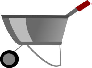 298x219 Wheelbarrow Clip Art