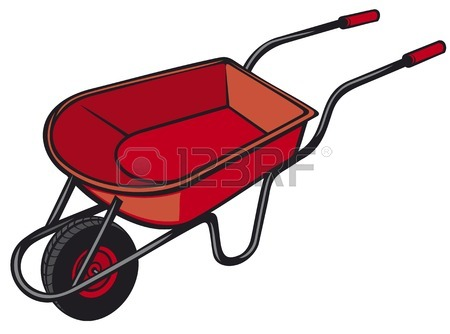450x334 Wheelbarrow With Money Royalty Free Cliparts, Vectors, And Stock