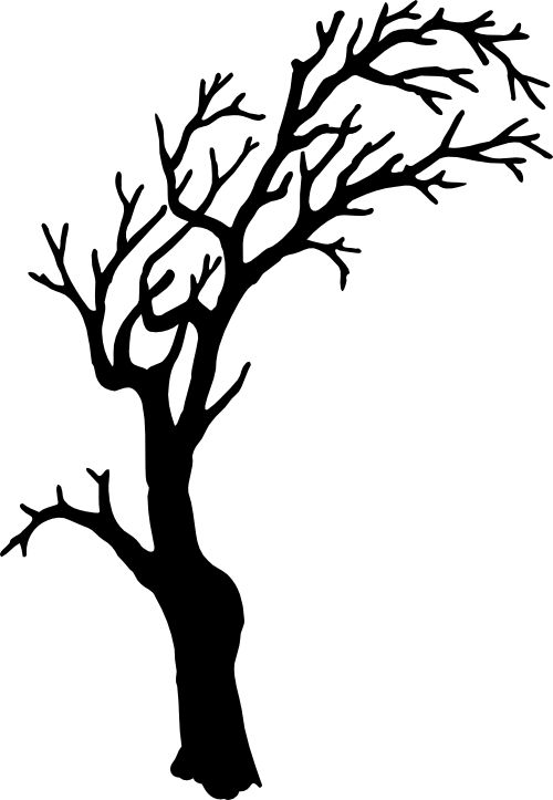 500x723 Silhouette Tree Silhouette Of Tree Clipart Free Clipartfest