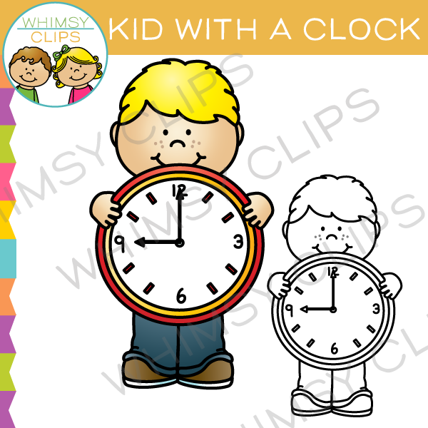 600x600 Clock Clip Art , Images Amp Illustrations Whimsy Clips