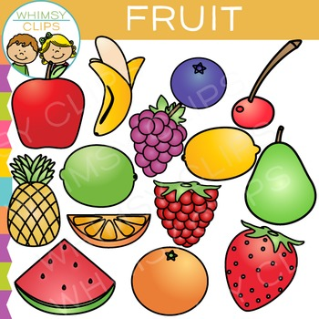 350x350 Fruit Clip Art By Whimsy Clips Teachers Pay Teachers