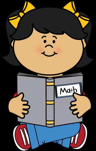 326x510 Kid Reading A Math Book Clip Art