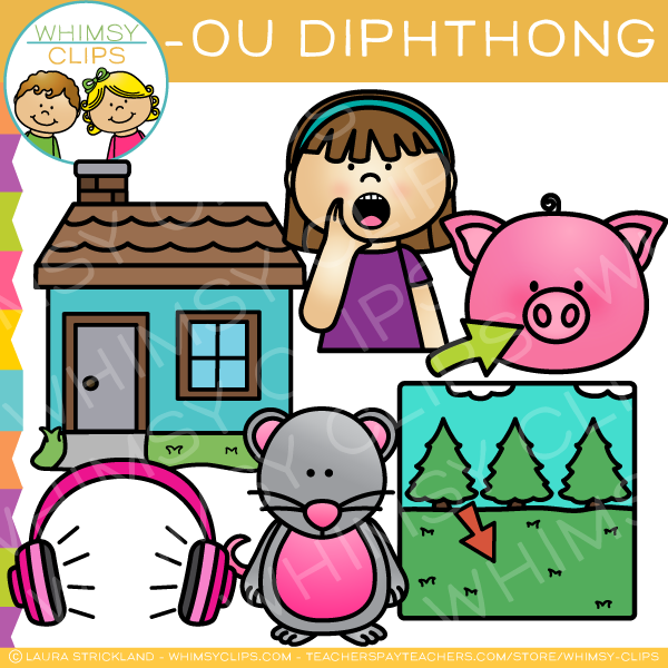 600x600 Ou Diphthong Clip Art , Images Amp Illustrations Whimsy Clips