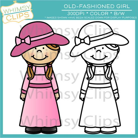 550x550 Old Fashioned Girl Clip Art , Images Amp Illustrations Whimsy Clips