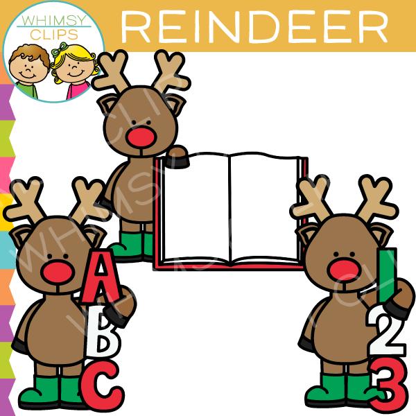 600x600 Reindeer Clipart Whimsical