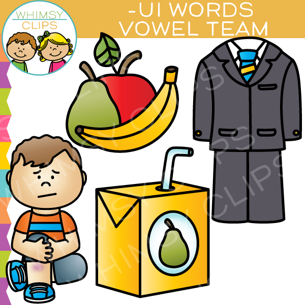 600x600 Vowel Teams Clip Art Ui Words , Images Amp Illustrations Whimsy Clips