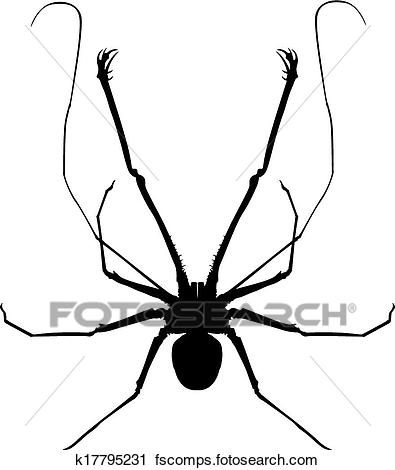 395x470 Clipart Of A Whip Spider K17795231