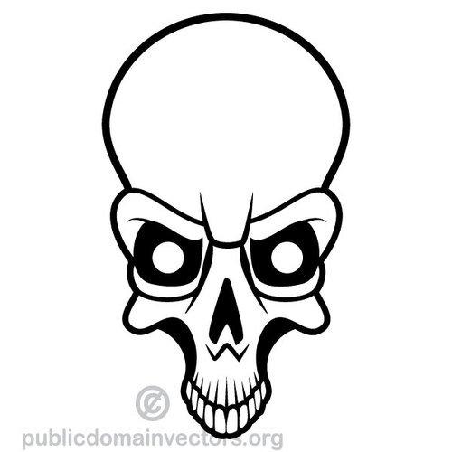 500x500 14122 Skull And Bones Clip Art Free Public Domain Vectors
