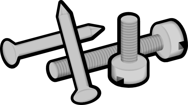 600x336 Screws And Nails Clip Art Free Vector In Open Office Drawing Svg