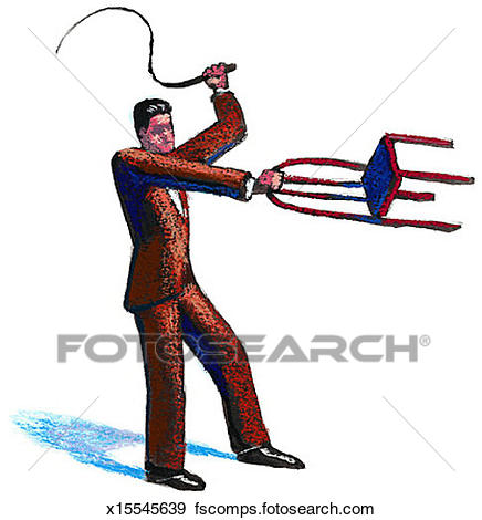 436x470 Stock Illustration Of Man With Whip Amp Chair X15545639