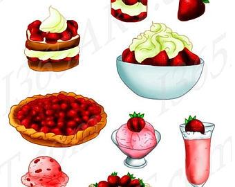 340x270 Strawberry Clip Art Etsy