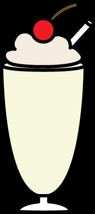 196x440 Vanilla Milkshake With Whipped Cream Clip Art