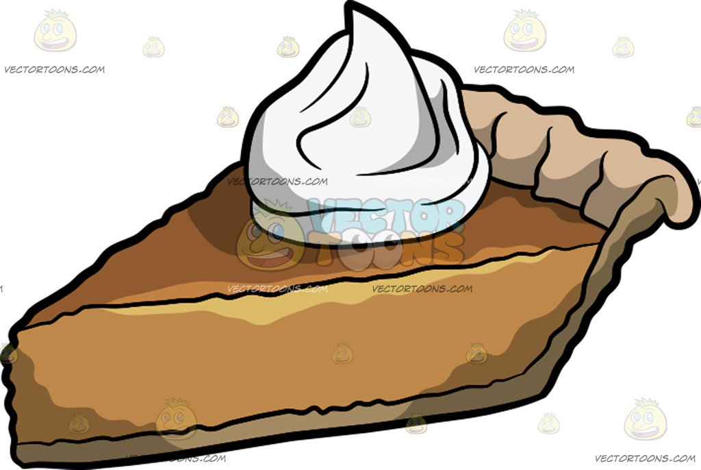1024x686 A Slice Of Pumpkin Pie Cartoon Clipart