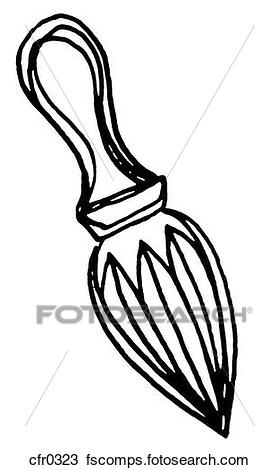 279x470 Drawing Of A Black And White Illustration Of A Citrus Reamer
