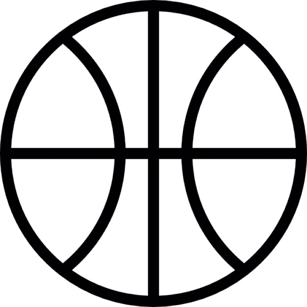 626x626 Basketball Ball Outline Icons Free Download