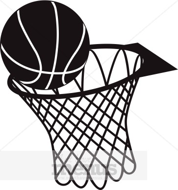 363x388 Black And White Basketball Clipart