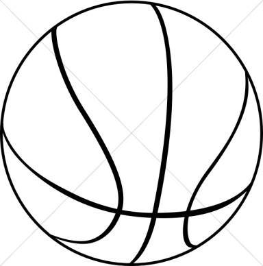 384x388 Black Amp White Clipart Basketball