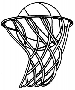 251x300 Free Black And White Basketball Clip Art