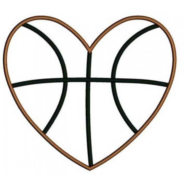 700x700 Heart Basketball Clipart