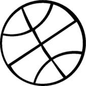 170x170 Basketball Clipart Black And White Basketball Clipart