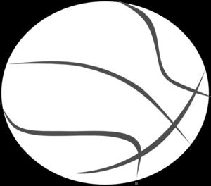 300x264 Basketball Outline Clip Art