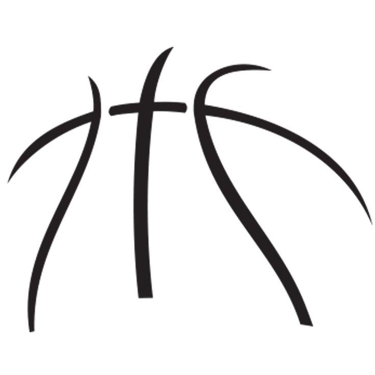 736x736 Basketball Outline