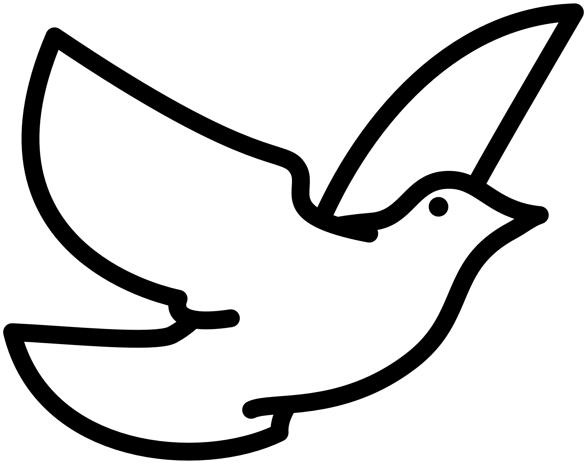 1969x1558 Bird Clipart Black And White Free Clipart Images