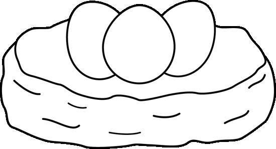550x297 Black And White Birds Nest Clip Art