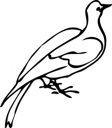 372x425 Clipart Bird Black And White Clipart Panda