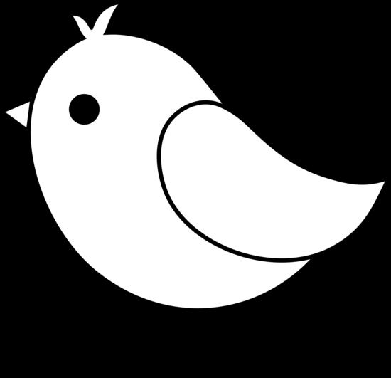 550x531 Cute Bird Line Art