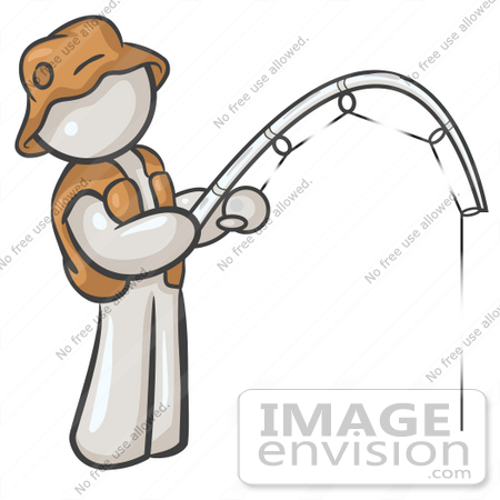 450x450 Clip Art Graphic Of A White Guy Character Fishing