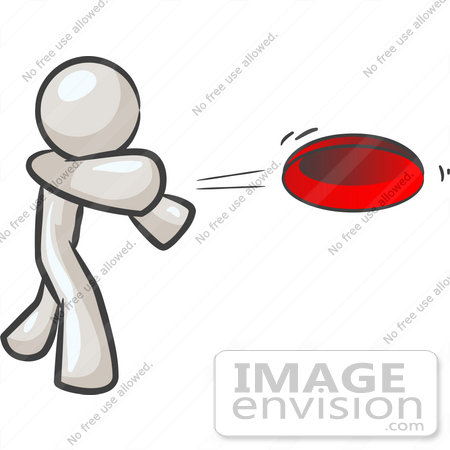 450x450 Clip Art Graphic Of A White Guy Character Throwing A Frisbee