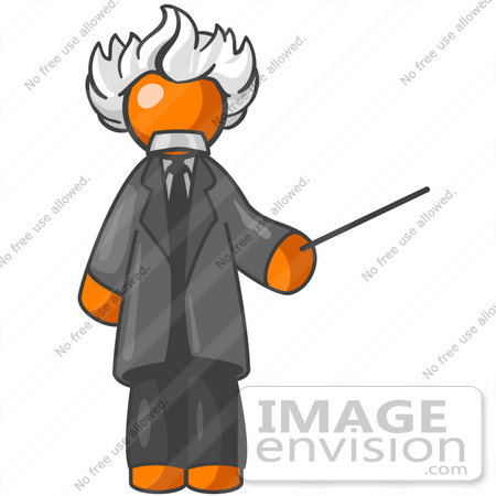 450x450 Clip Art Graphic Of An Orange Guy Albert Einstein Character