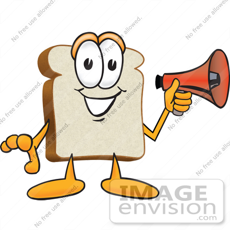 450x450 Clip Art Graphic Of A White Bread Slice Mascot Character Preparing