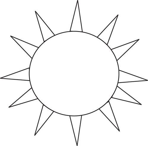 500x493 Black And White Sun Clip Art Many Interesting Cliparts