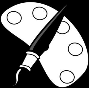 298x294 Clip Art Black And White Paint Clipart