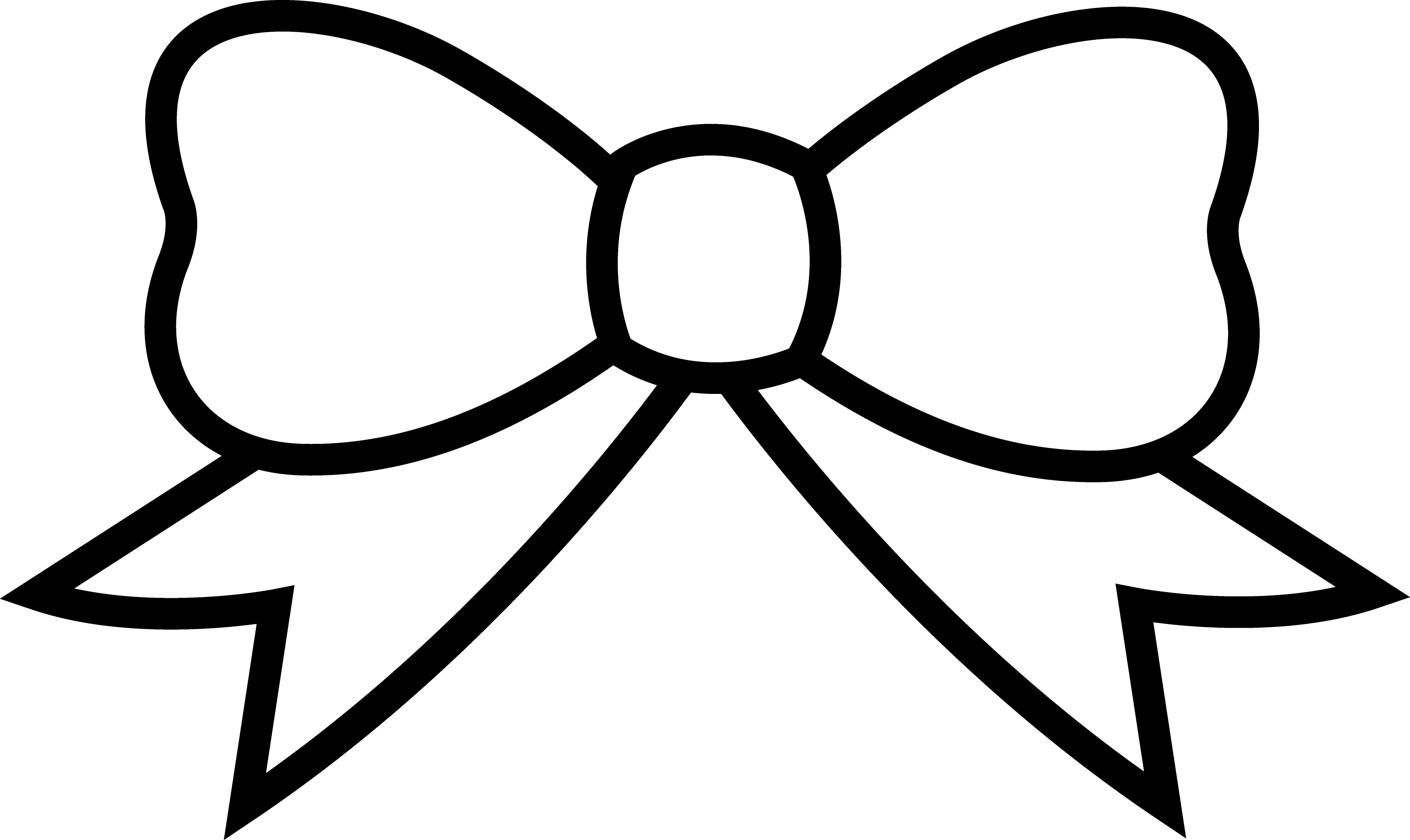 3725x2220 Clip Art Black And White Ribbons And Bows Clipart