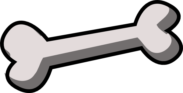 600x306 Cartoon Bone Clip Art