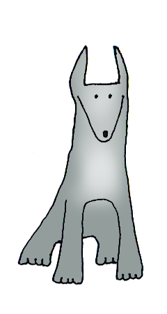 240x450 Dog Clip Art
