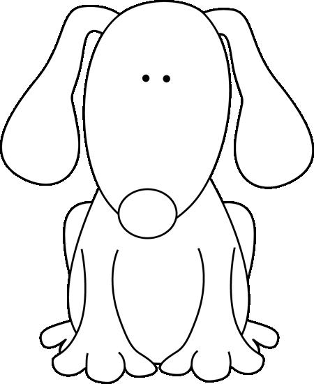 450x550 Black And White Dog For D Clip Art