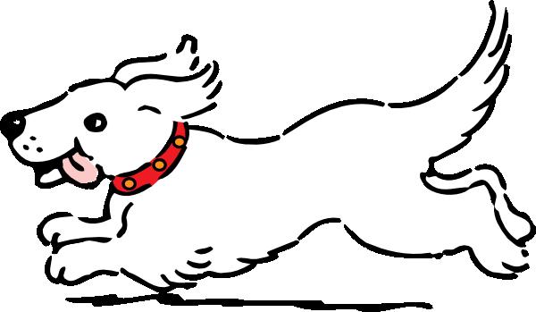 600x349 White Dog Clip Art