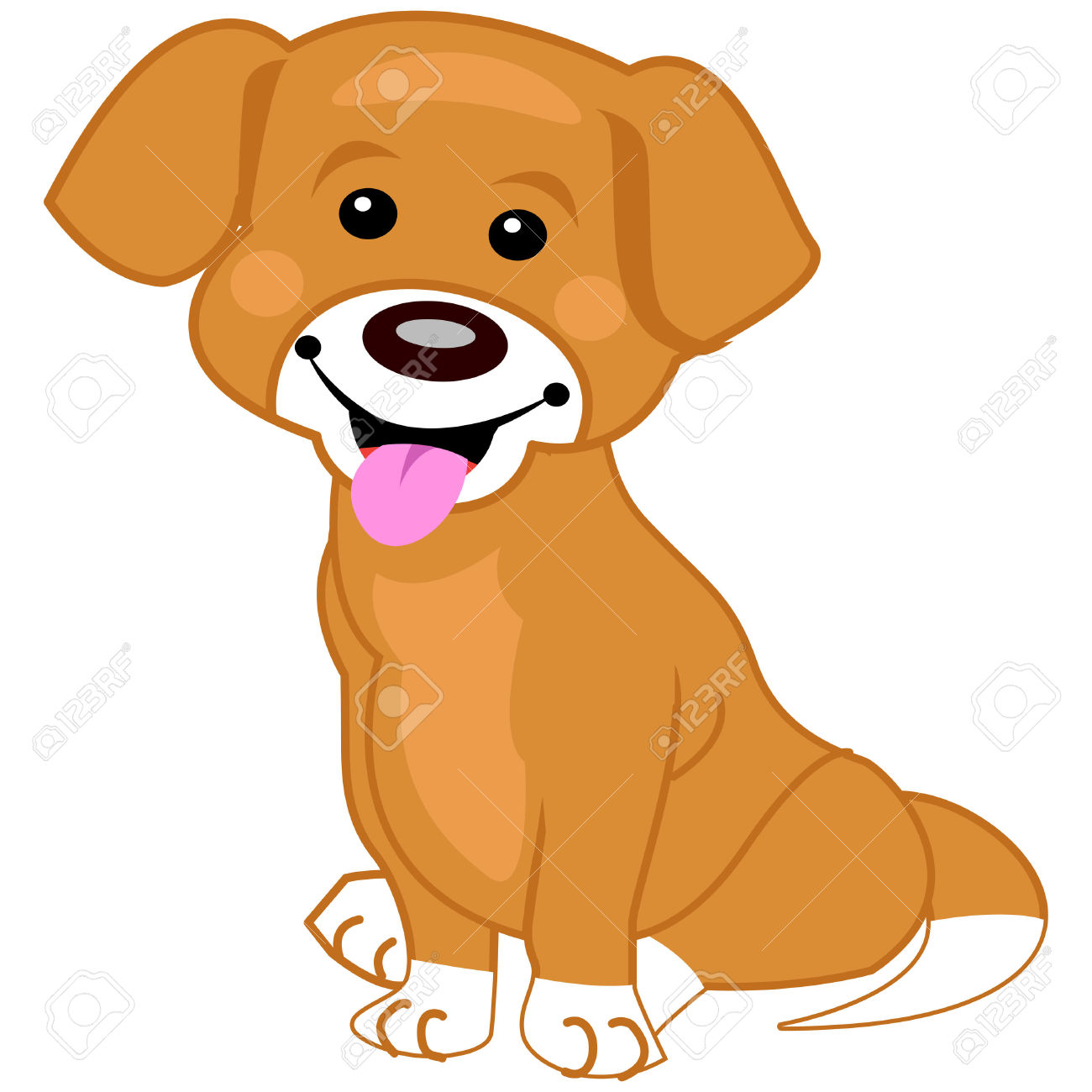 1300x1300 Brown Clipart White Dog