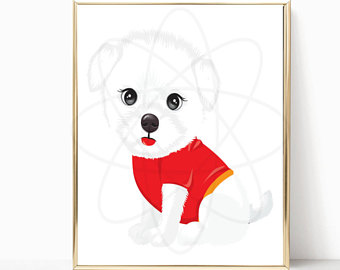 340x270 Cute Dog Art Etsy