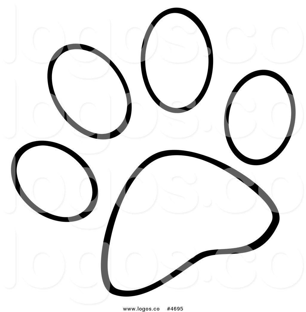 1024x1044 Royalty Free Logo Of A Black And White Dog Paw Print By Hit Toon