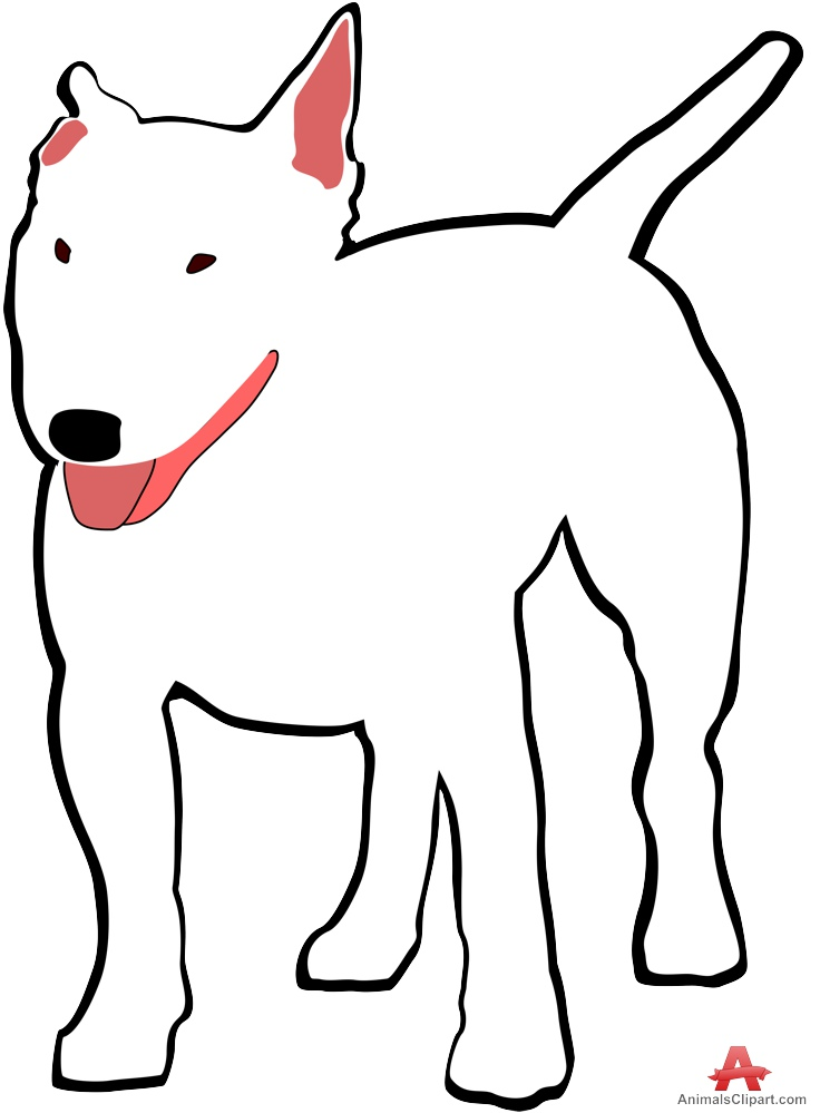 736x999 White Bull Terrier Dog Clipart Free Clipart Design Download