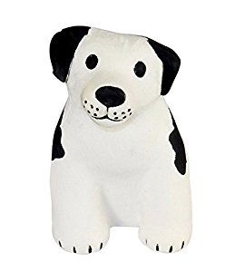 259x300 Black Amp White Dog Shaped Stress Relief Toy, Squeezable