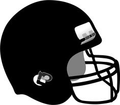 White Football Helmet Clipart
