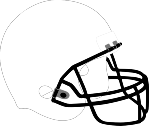 299x252 Football Helmet White Black Clip Art